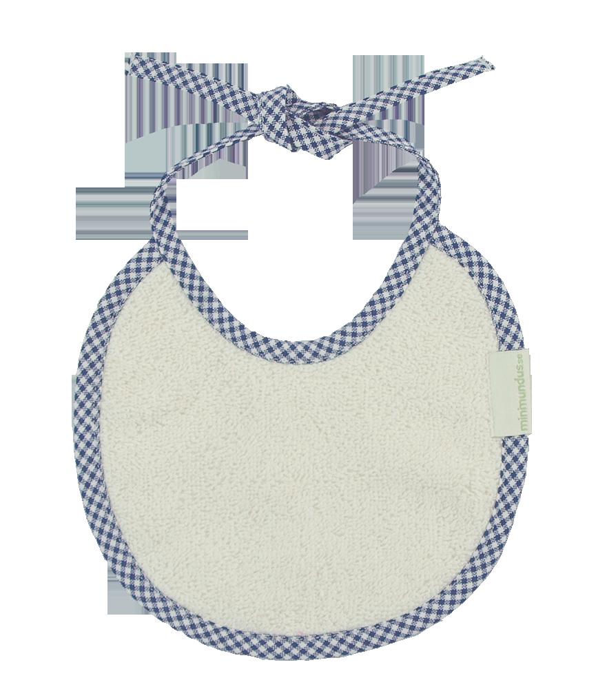 Haklapp dregglis 100% ekologisk bomullsfrotté marin kant