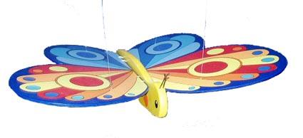 flygande fjäril av trä GOKI