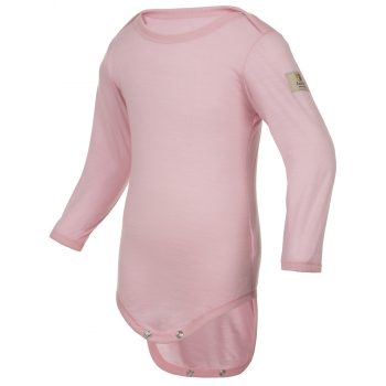Janus LightWool baby body 100% merinoull rosa