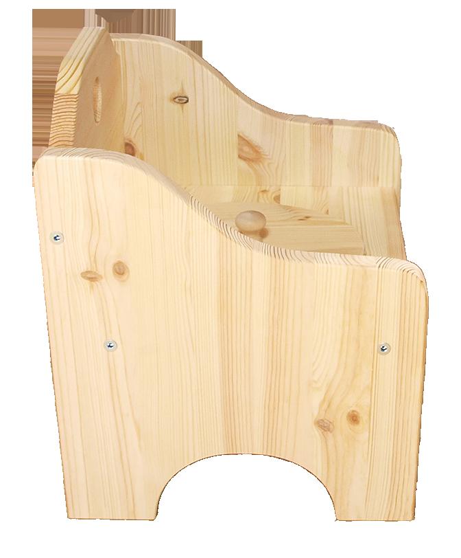 Pottstol i obehandlad furu trämöbel hållbart och ekologiskt svensktillverkad