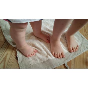 Handduk/torkmatta ekofrotté och lin