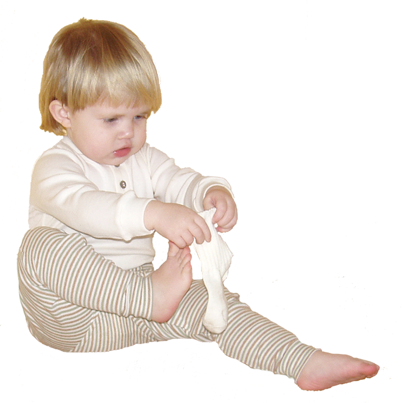 Minimundus babystrumpor av merinoull ullvita