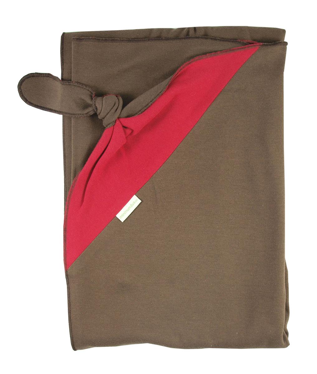 Minimundus mjuk ekologisk filt med snuttehörn röd/brun