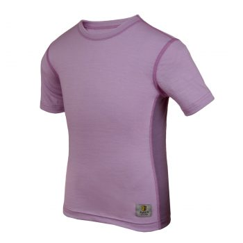 Janus LightWool barn t-shirt 100% merinoull lila