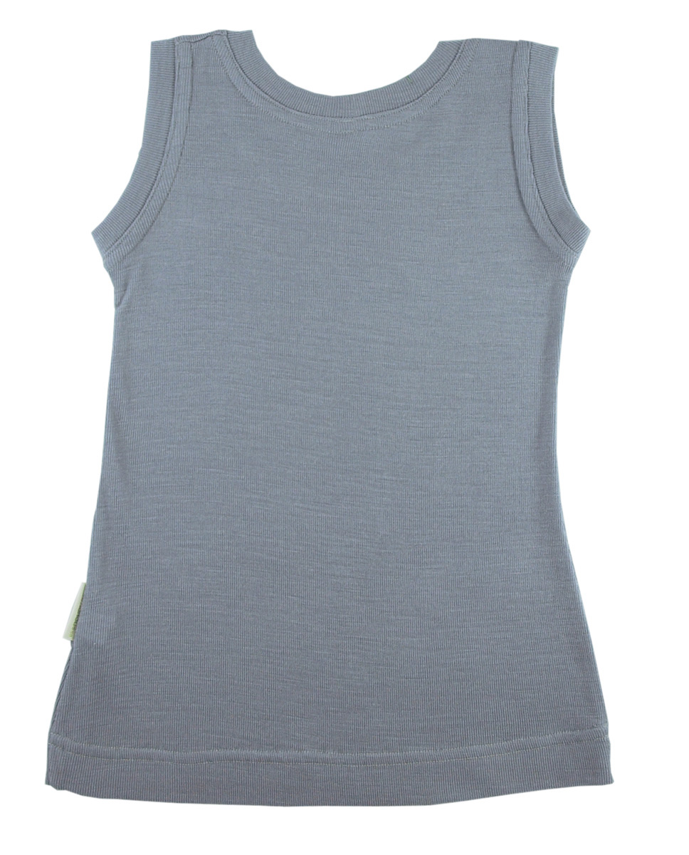 Minimundus barn linne 100% merinoull BlueSign grå