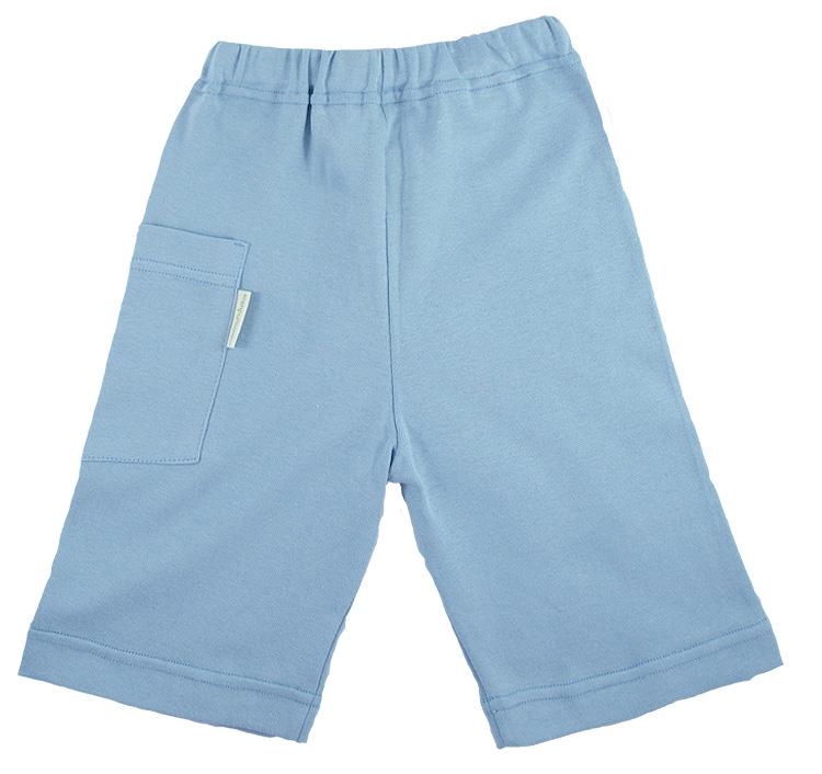 Tim&Teja shorts av 100% ekologisk bomull ekologiskt färgad ljusblå