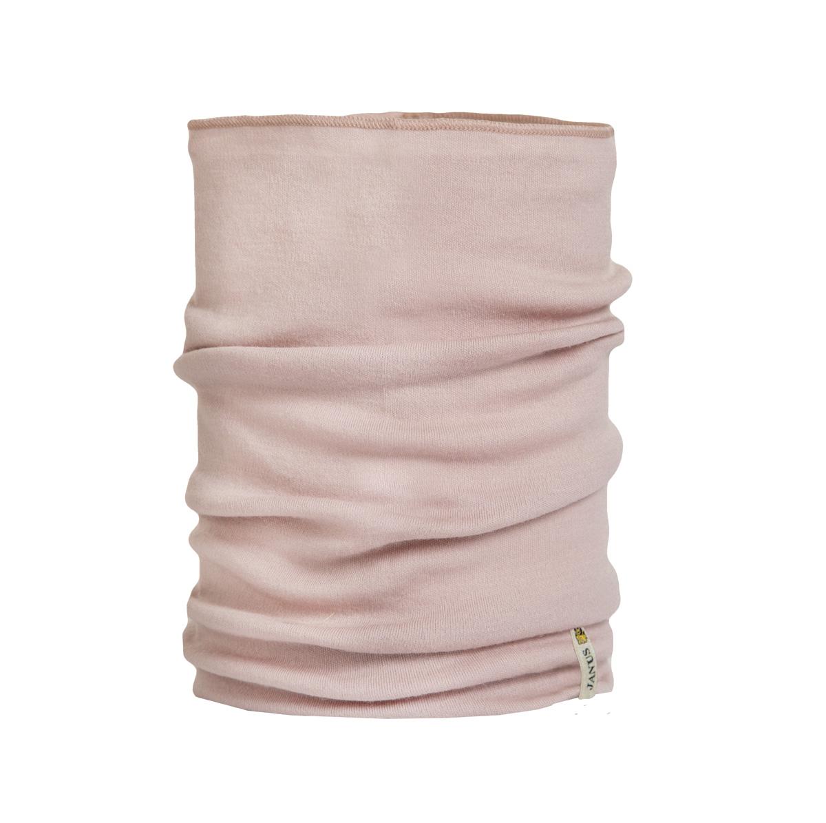 Janus halsduk neckwarmer barn 100% merinoull gammalrosa