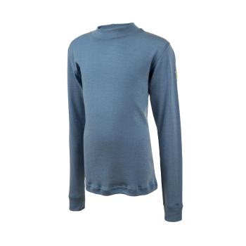 Janus DesignWool junior underställ tröja 100% merinoull blå