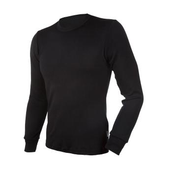 Janus BlackWool herr underställ tröja med lång ärm 100% merinoull