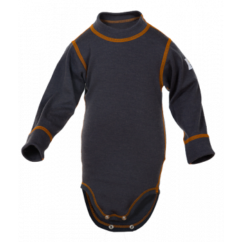 Janus Kids Basic Wool body 100% merinoull grå