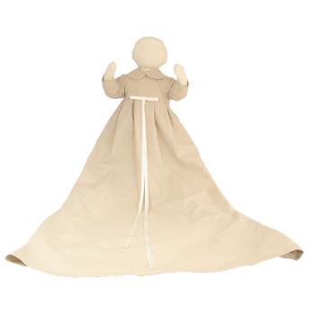Minimundus dopklänning av oblekt naturtyg lin/bomull