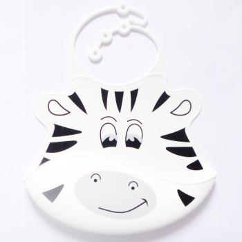 Haklapp av livsmedelsgodkänd silikon Zebra