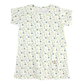 Minimundus klänning med kort ärm grön eco bubbles