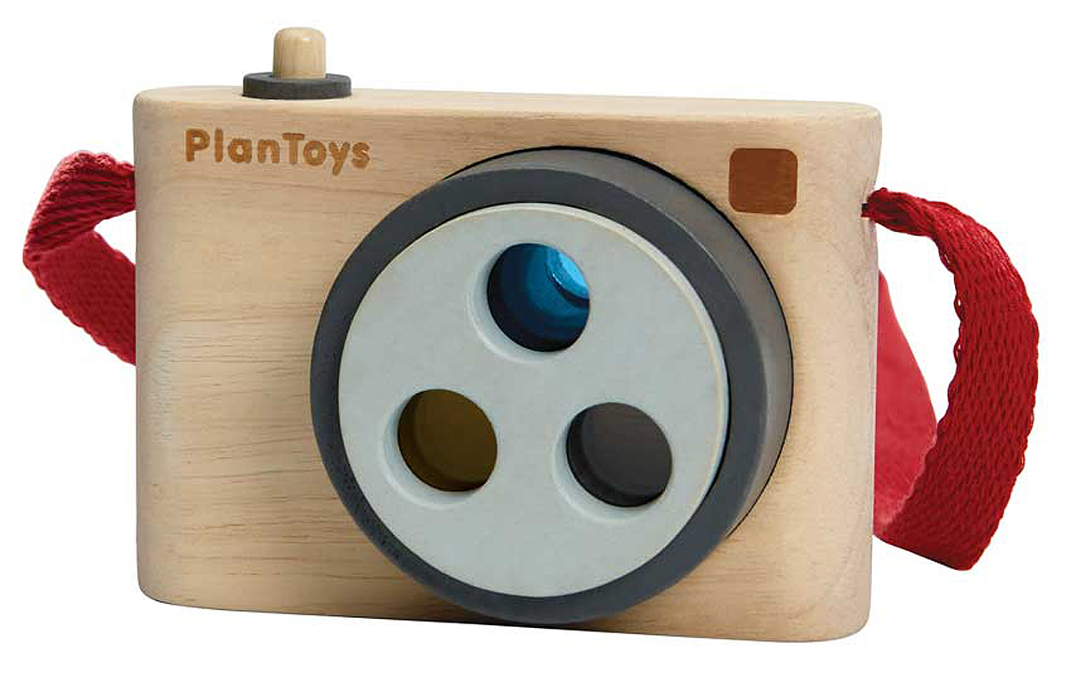 PlanToys colored snap camera PlanToys colored snap camera av gummiträ