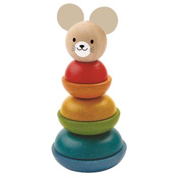 Stapelleksak från Plantoys Stacking Mouse tillverkad av PlanWood