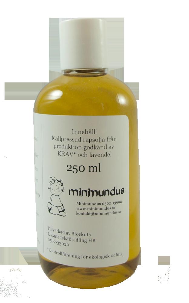 Minimundus barnolja av svenskodlad ekologisk raps 250 ml