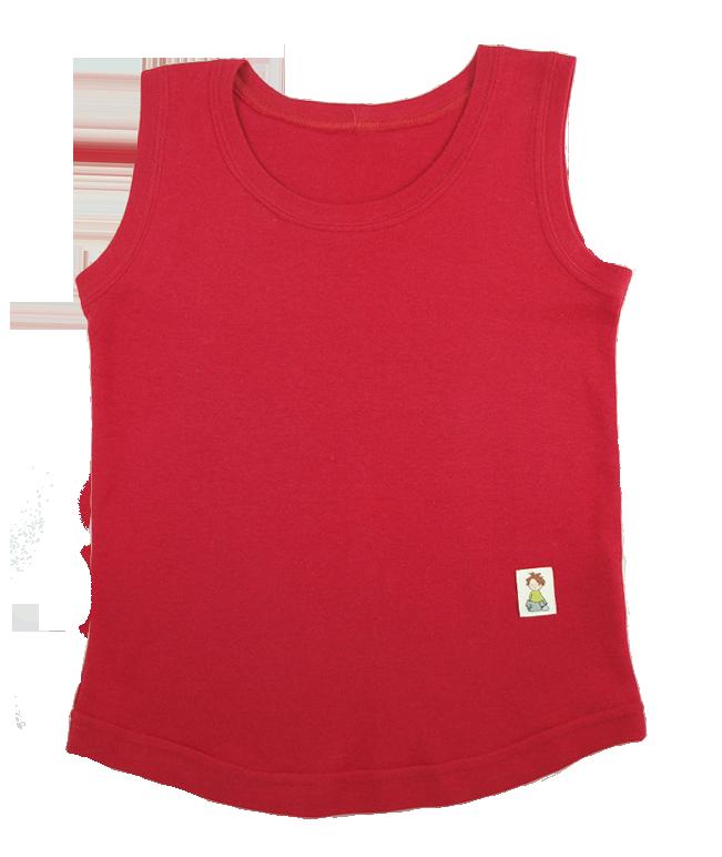 Tim&Teja linne tanktop ekologiskt färgad ekobomull röd
