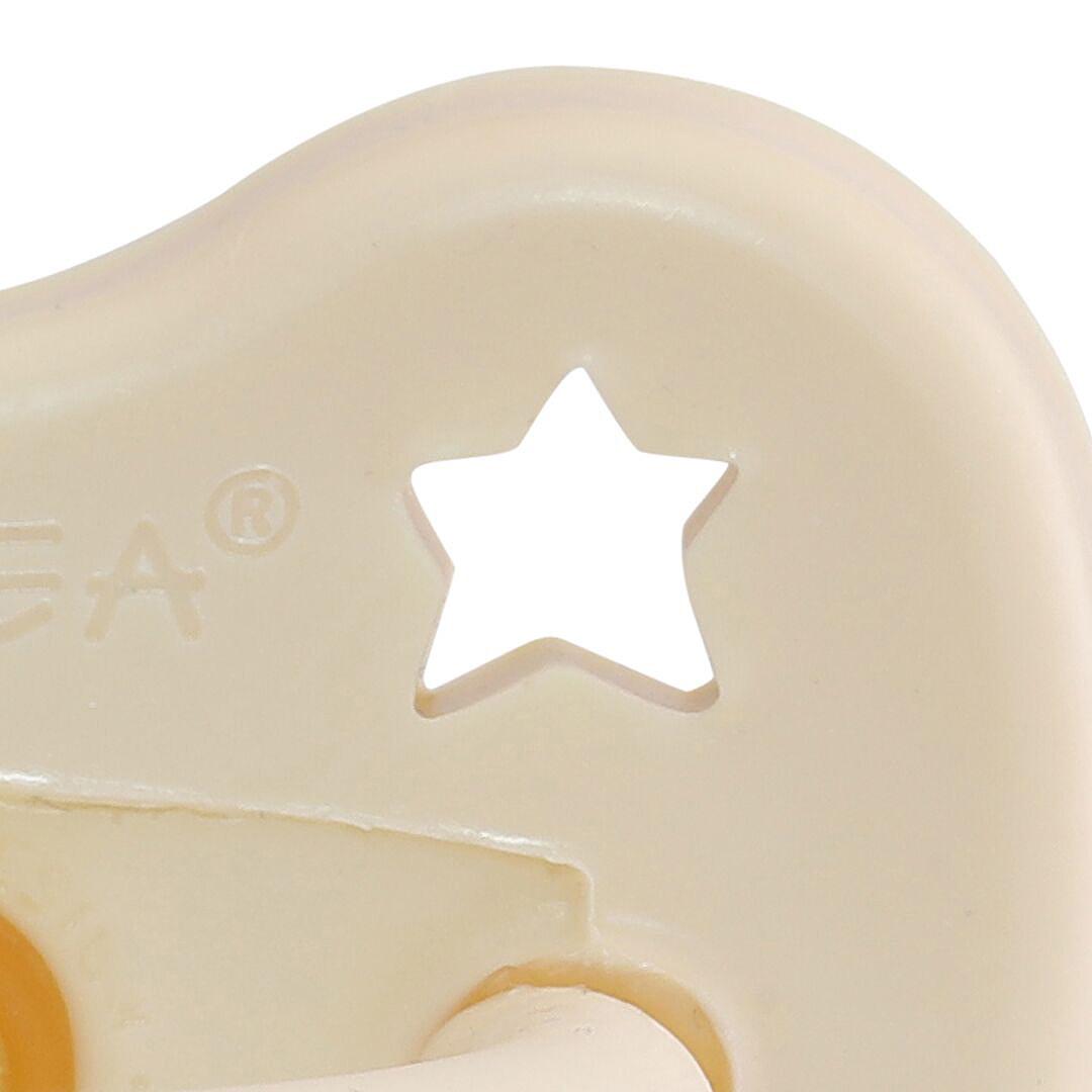 Heveababy napp av naturgummi milky white 0-3 mån