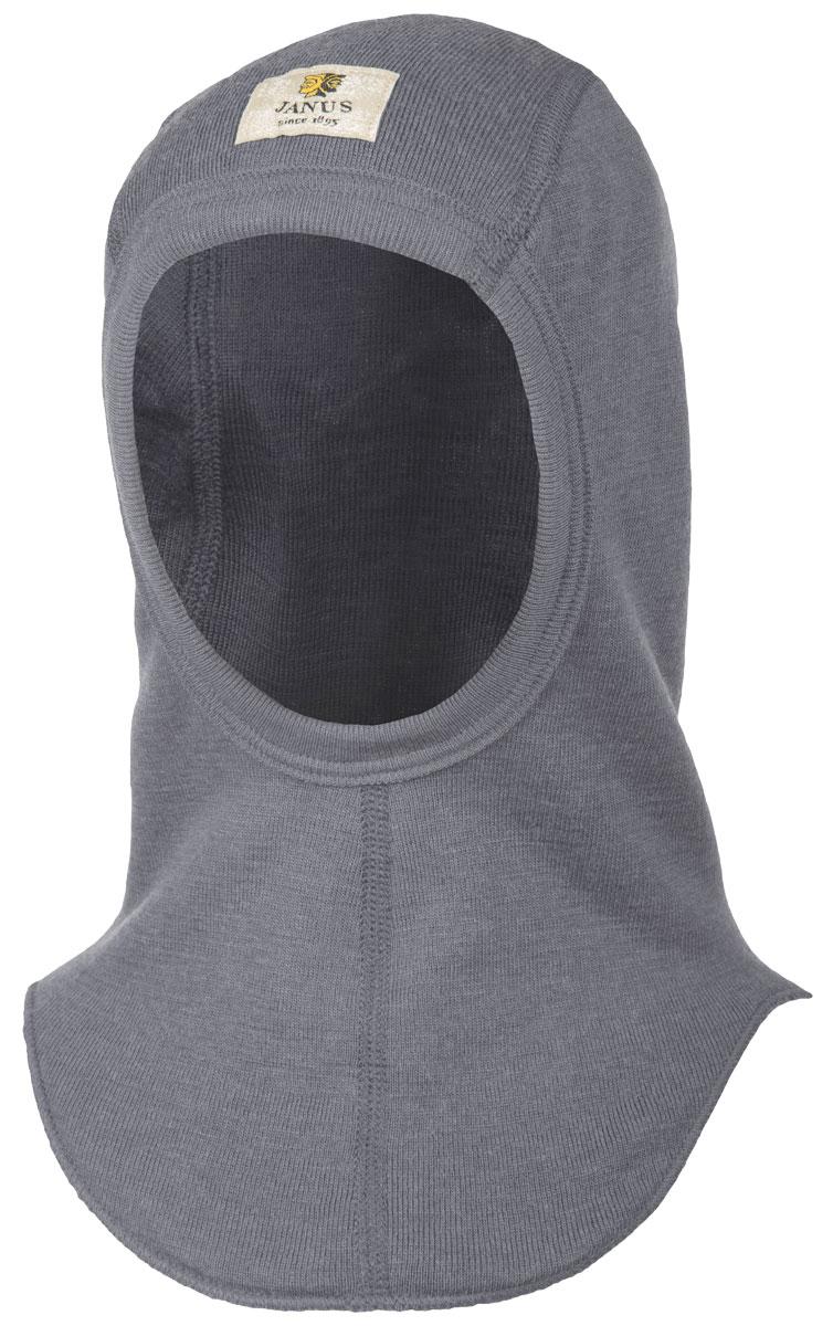 Janus DesignWool junior väpnarluva balaclava 100% merinoull grå