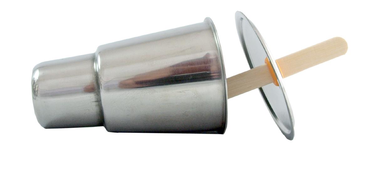 Glassformar BABEL av rostfritt stål runda 6 st med ställ