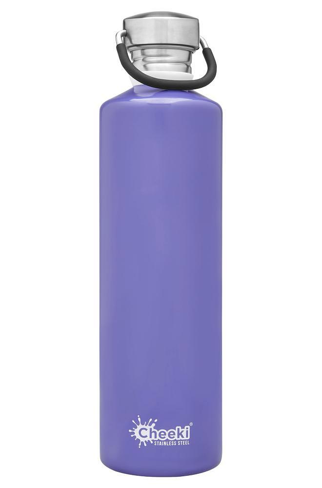 cheeki vattenflaska rostfritt stål lavendel lila