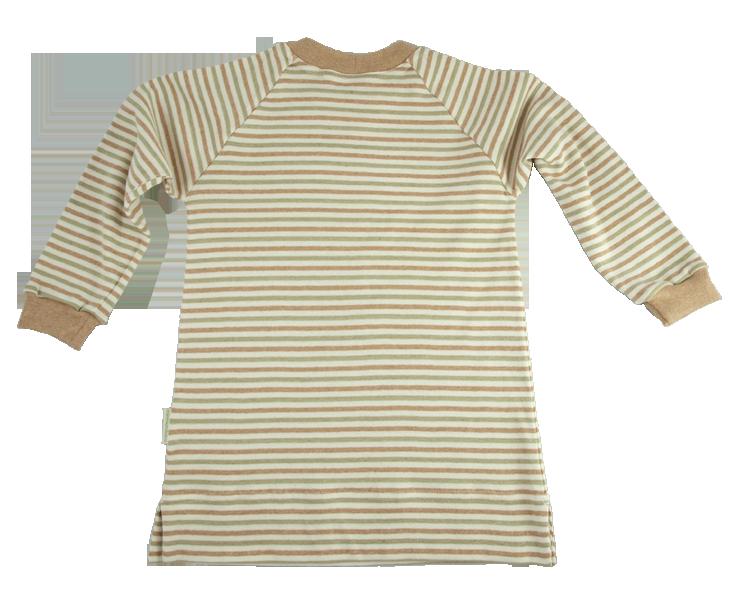 Minimundus pyjamas två delar 100% ekologisk bomull Coloured by Nature grön brun natur