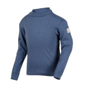 Minimundus tröja av 100% ekologisk merinoull blå