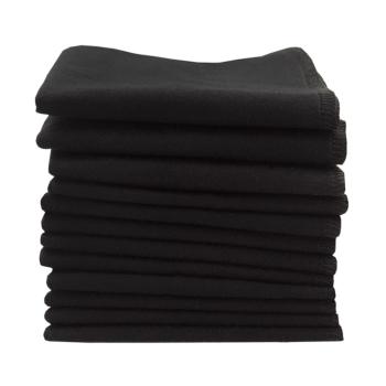 Tvättlappar av 100% ekologisk bomullsflanell ImseVimse svart