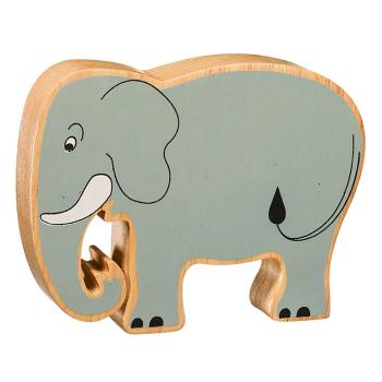 Elefant av gummiträ handgjord FairTrade Lanka Kade