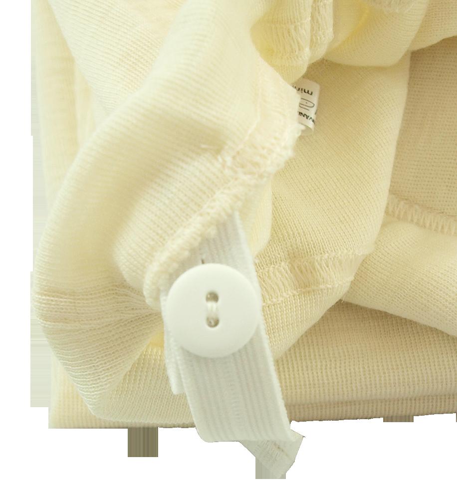 Minimundus gravidlångkalsonger 100% merinoull BlueSign ullvit