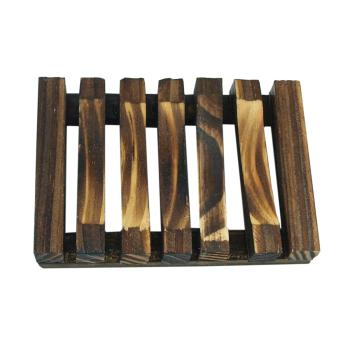 Handgjort tvålfat av mörkbetsad bambu