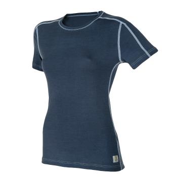 Janus LightWool dam t-shirt 100% merinoull mörkblå
