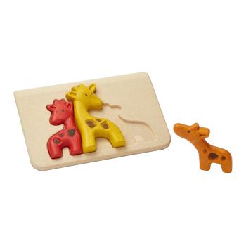Giraffpussel av gummiträ PlanWood PlanToys