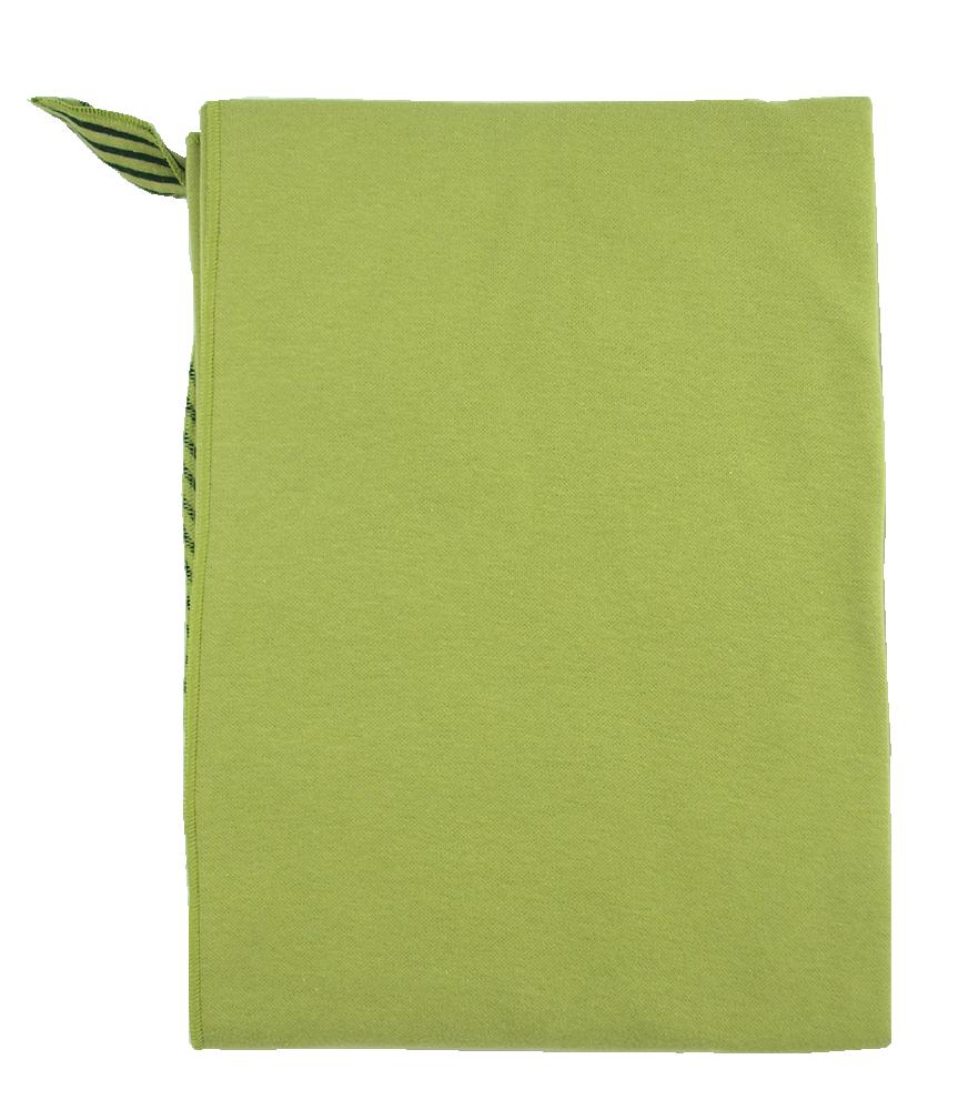 Minimundus ekologisk babyfilt med snuttehörn grön/grönsvartrand