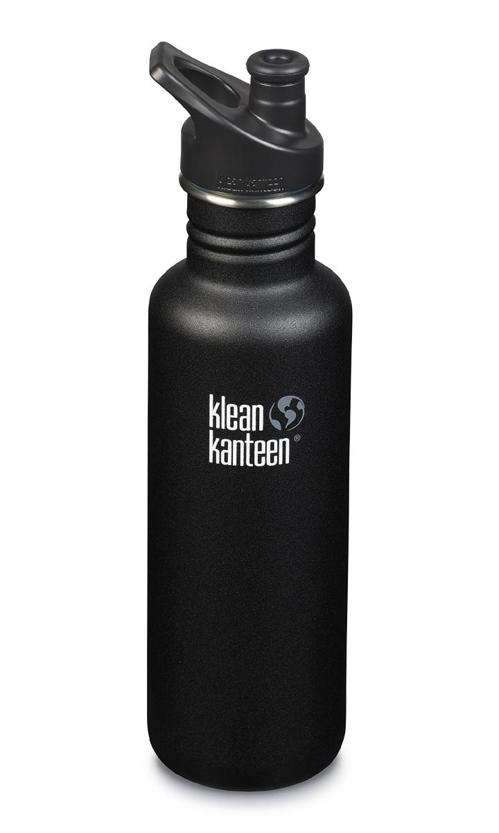 Vattenflaska 800 ml Klean Kanteen Classic svart