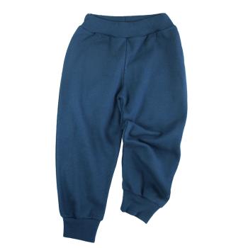 Tim&Teja joggingbyxor 100% ekologisk bomull ekologiskt färgad marinblå