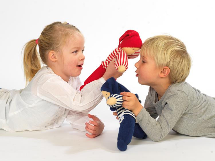 Keptin Jr Rag doll docka stoppad med ull