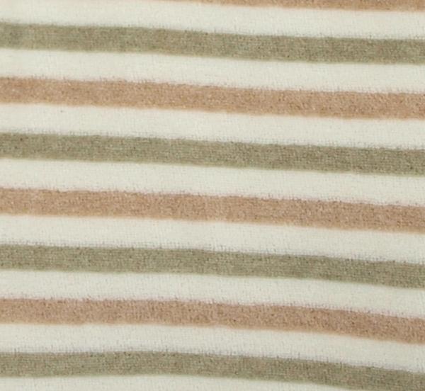 Velour av 100% ekologisk bomull färgväxande Coloured by Nature brun grön natur