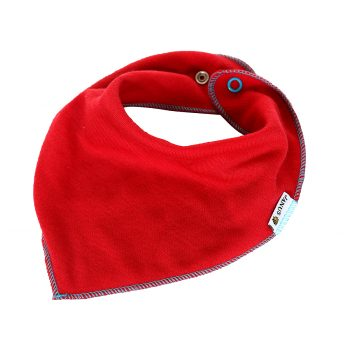 Babyscarf dregglis 100% merinoull Janus röd