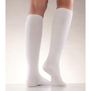 Mabs stödstrumpor cotton knälång vit