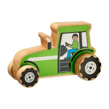 LankaKade fairtrade traktor av gummiträ