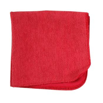 Städduk av röd microfiber röd städa utan kemikalier