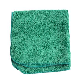 Dammduk av mjuk microfiber grön städa utan kemikalier
