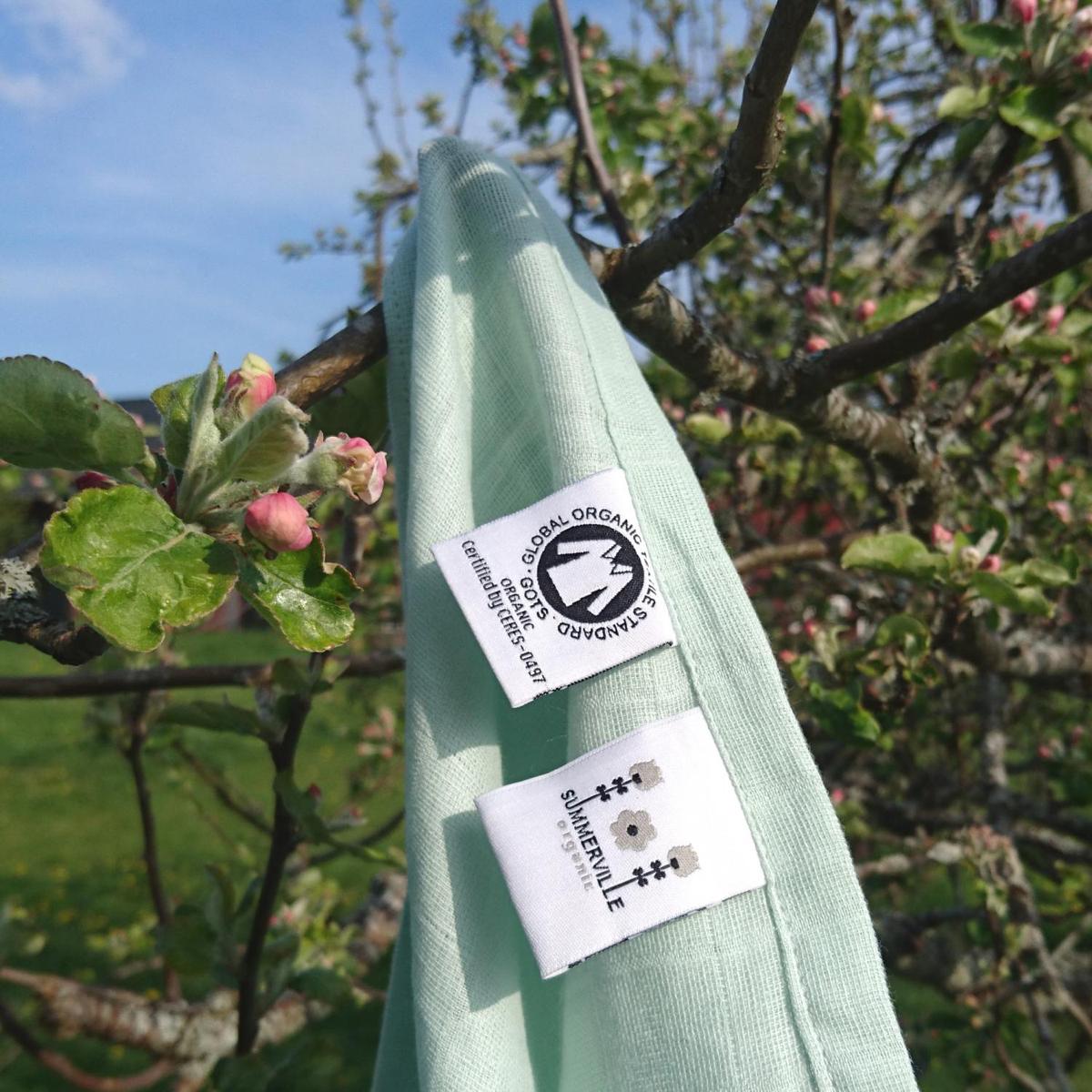 Ekologisk muslinfilt grön 70x70 Summerville