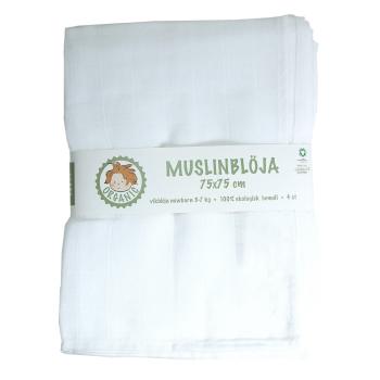 Minimundus muslinblöjor av ekologisk bomull 4-pack vit