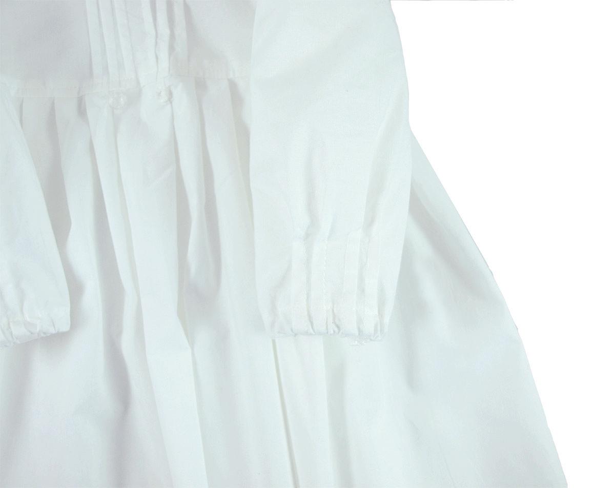 Minimundus dopklänning av 100% ekologisk bomull stråveck på ärm