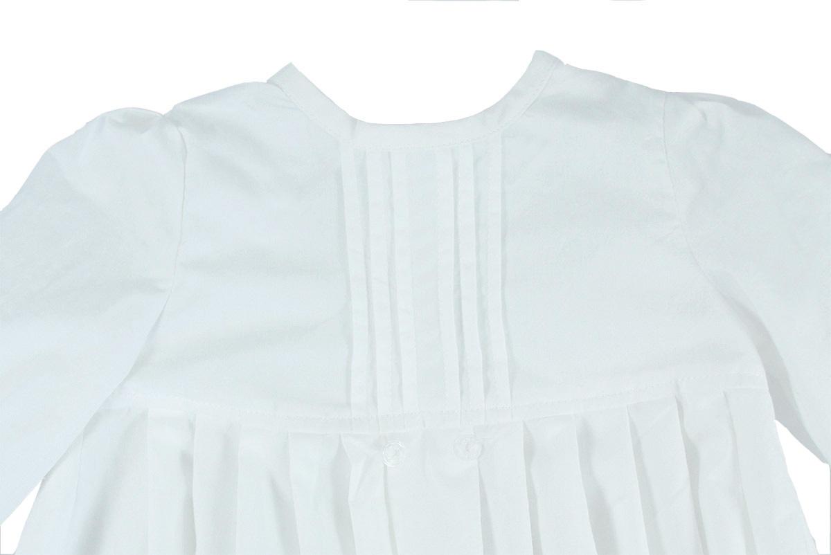 Mnimundus dopklänning av 100% ekologisk bomull stråveck fram