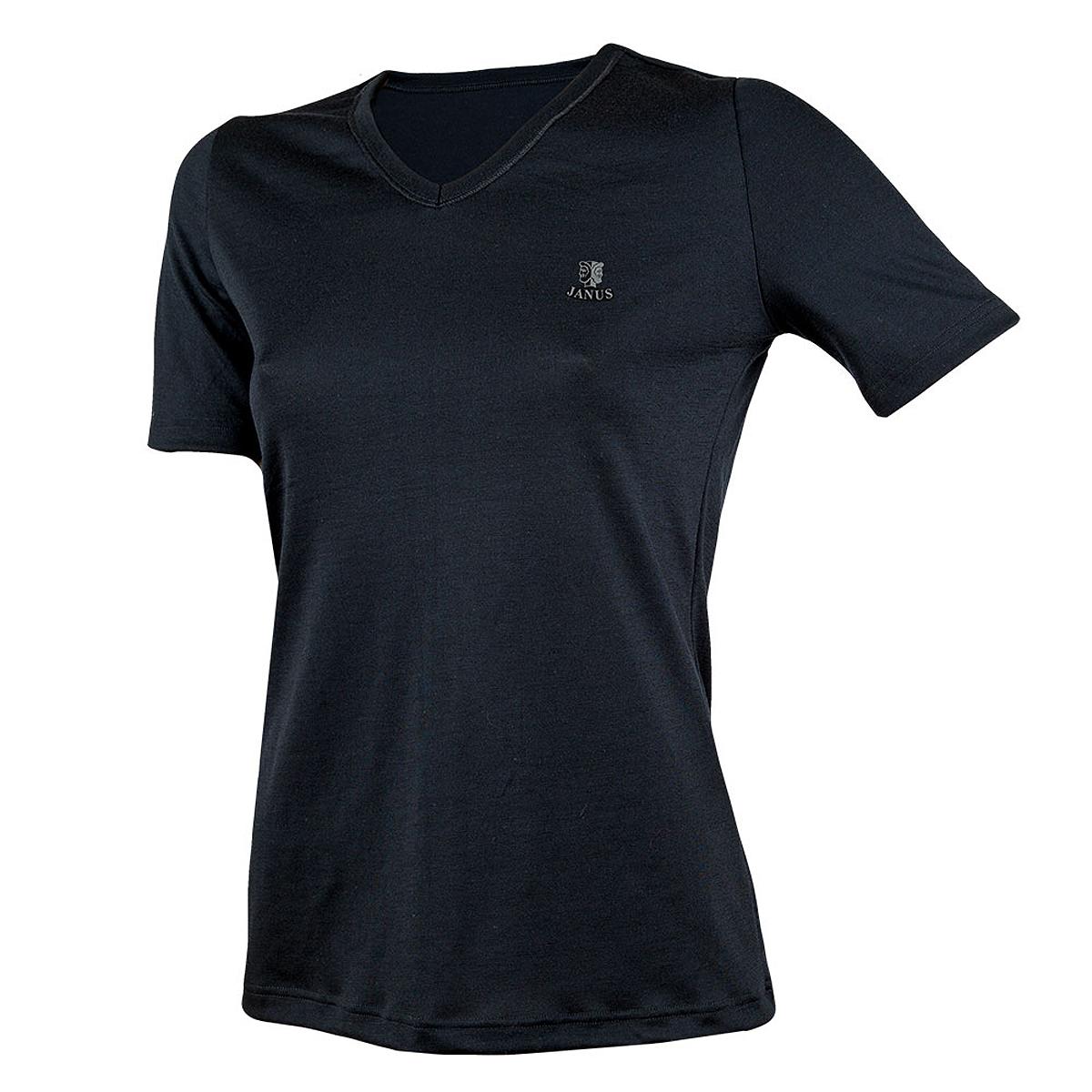 Janus t-shirt LightWool 100% merinoull dam svart