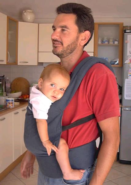 Patapum baby bärsele för baby upp till 14 kg blå