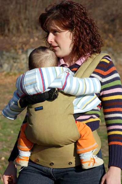 Patapum baby bärsele för baby upp till 14 kg khaki